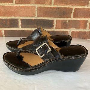 boc Shoes - BOC black leather slip on wedge sandals